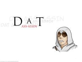 Dat Ass-assin Wallpaper by blueToaster