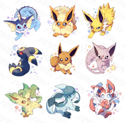 EEVEELUTION CHARMS! by STARBITT