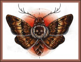 Death moth by PuppetDude