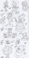 Sketches drawn in classes by FANSHINE-ZERO