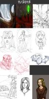 Daily doodles 2013-11 by Lysandr-a