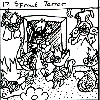 BB Inktober Event 17: Sprout Terror by Ryu-Oni