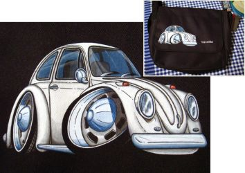 Commission VW Bug ClipArt Bag by Sega-Club-Tikal