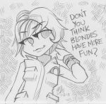 Don't you think blondes have more fun? by lazytigerart