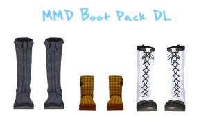 [MMD] Boot Pack 1 DL by sleebys