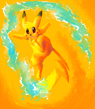 PIKACHU USED IRON TAIL by Christmaslolly
