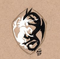Dragon and Unicorn - Failed Attempt at Shield by mcah