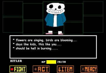 SANS BAD GRAMMAR FROM GENOCIDE UNDERTALE!!!!! by Anjerin