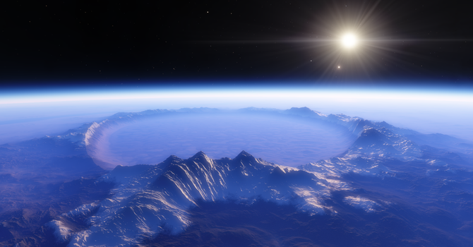 SPACE ENGINE Exploration 34: Frosty Blue by TuberculosisGeorge