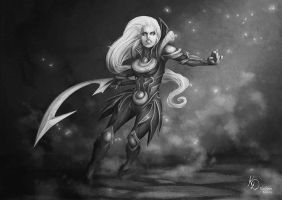 Diana League Of Legends by kath0n