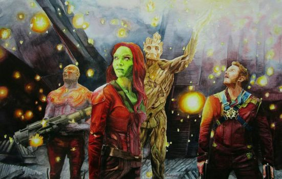 Guardians of the galaxy by Nathalief87