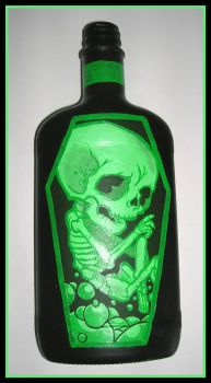 Pickled Baby Skeleton Bottle by scumbugg