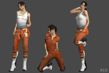 Chell from Portal by Marcelievsky