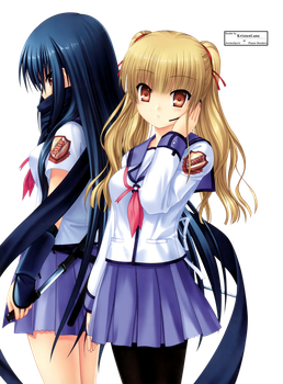 Yusa and Shiina Render by KristenLane