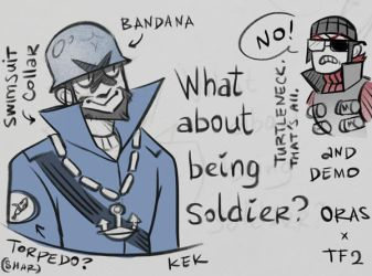 oras x tf2 different roles by Kessavel-art