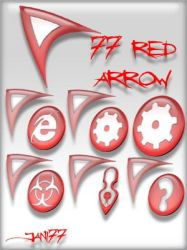 77 red arrow by jani77