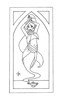 Art Nouveau Genie by gingersketches