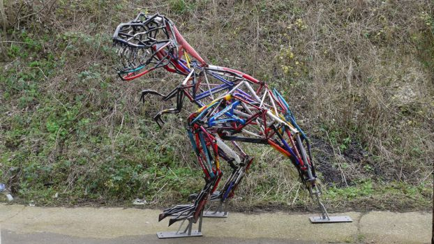 TRex Bicyclaurus by HubcapCreatures