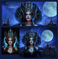 Queen - before and after / close-up by Wesley-Souza