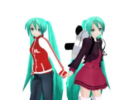 MMD Newcomers - Gym and School Miku DL DOWN by Xeno-Fan-Jay