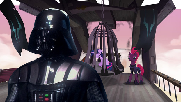 Darth vader with Tempest and Twilight by EJLightning007arts