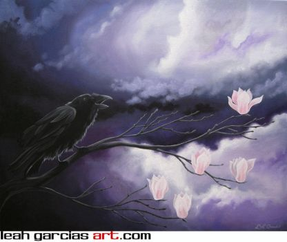 Storm Raven 30x24 by LeahGarcia