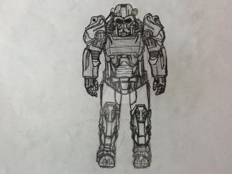 T-60 Power Armor - Fallout 4 by NicksterDagames