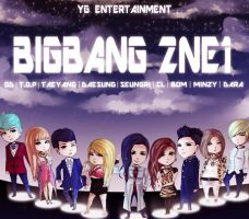 BIG BANG and 2NE1 by chocolexii