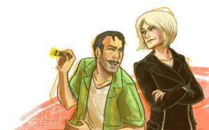 Uncharted 3: Sully and Marlowe by gothicspork