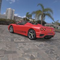 Ferrari 360 Spider in a Parking Lot by VanishingPointInc