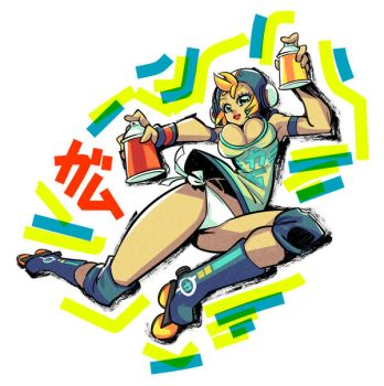 Jet Set Radio fanart : Gum by Rafchu