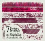 7 Texture Brushes by carlyartdaily