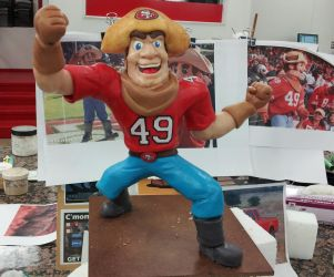 San Francisco 49ers Mascot sculpt by Speezi