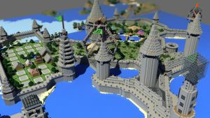 Castle Grounds by strawberryminecraft