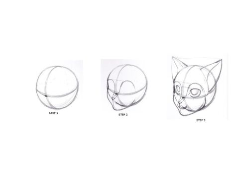 how to draw furry cat head by fortkodi012