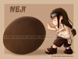 Chibi Fruit Ninja- Neji by Red-Priest-Usada