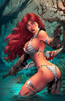 Red Sonja Annual 2015 cover colors by dinei