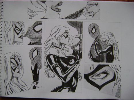 BlackCat and Spiderman Love by Miller-Is-Dead