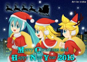Vocaloid Christmas 2014 by irzhie