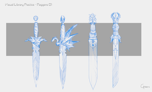 Visual library practice - Daggers 01 by RobertoGatto
