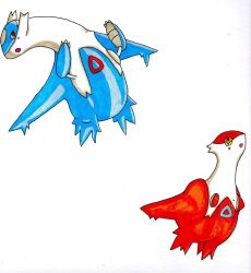 Promarker: Latios and Latias by LadyTau