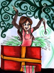 OC Christmas Cards - Bethany's Presents by SnowyMarriner