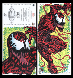 Carnage Marvel premiere 3 panel from Upperdeck by comicsINC