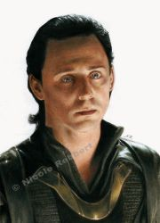 Sad Loki (drawing) by Quelchii