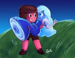 Ruby And Sapphire by quinntheking