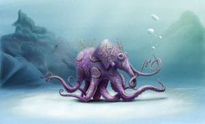 Painting creatures with Bobby Chiu Assignment 9 by spiderman-mx