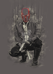 Jensen Ackles is Under the Red Hood by bennixalice