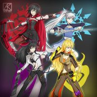 Team RWBY by ArukoFanart