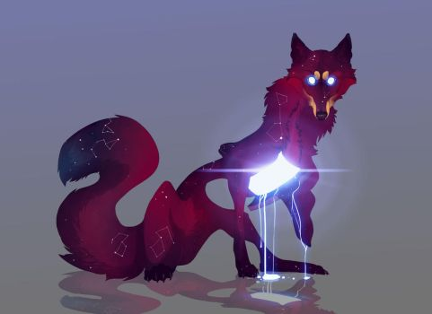 Wolf at The Door/ adoptable/ CLOSED by Tytoz