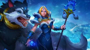 Dota 2 - Crystal Maiden Frost Avalanche by FlyanTan